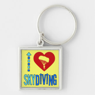 I Love Skydiving Key Chains