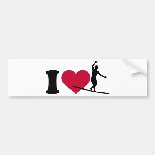I love Slackline Bumper Sticker