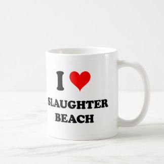 I Love Slaughter Beach Delaware Coffee Mugs