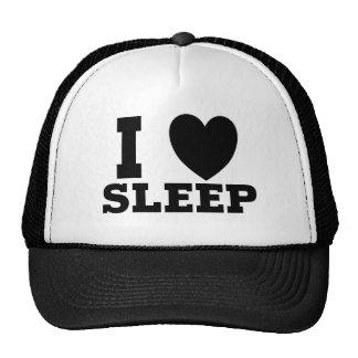 I Love Sleep Funny Design Cap