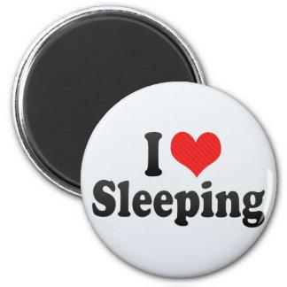 I Love Sleeping 6 Cm Round Magnet