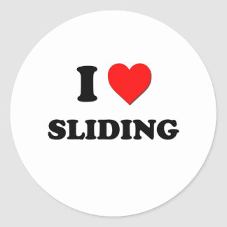 I love Sliding Round Stickers