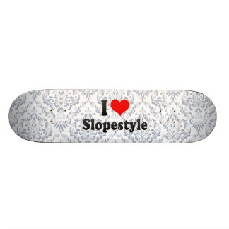 I love Slopestyle 18.1 Cm Old School Skateboard Deck