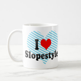 I love Slopestyle Basic White Mug