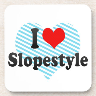 I love Slopestyle Beverage Coaster