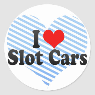I Love Slot Cars Stickers
