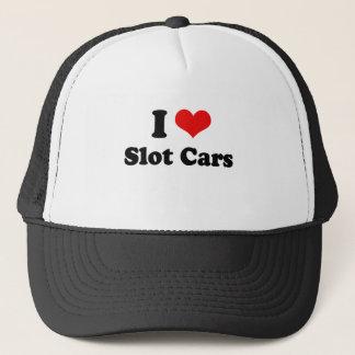 I Love Slot Cars Tshirt Trucker Hat