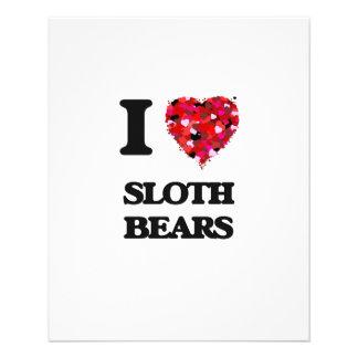I love Sloth Bears 11.5 Cm X 14 Cm Flyer