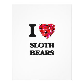 I love Sloth Bears 21.5 Cm X 28 Cm Flyer
