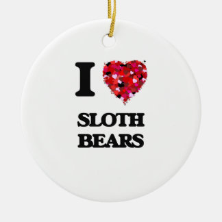 I love Sloth Bears Christmas Ornament