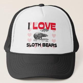 I Love Sloth Bears Trucker Hat