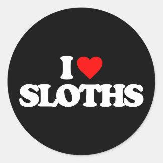 I LOVE SLOTHS CLASSIC ROUND STICKER