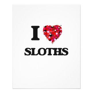 I love Sloths 11.5 Cm X 14 Cm Flyer