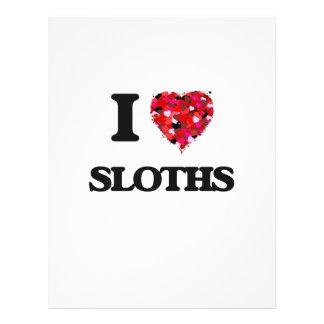 I love Sloths 21.5 Cm X 28 Cm Flyer