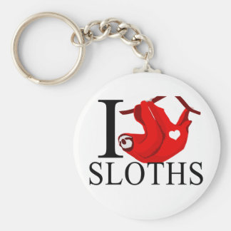 I Love Sloths Keychains