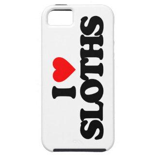 I LOVE SLOTHS TOUGH iPhone 5 CASE