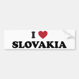 I Love Slovakia Bumper Sticker