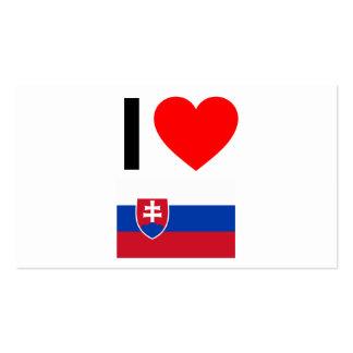 i love slovakia business card templates