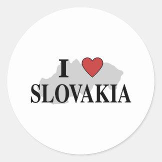I Love Slovakia Classic Round Sticker