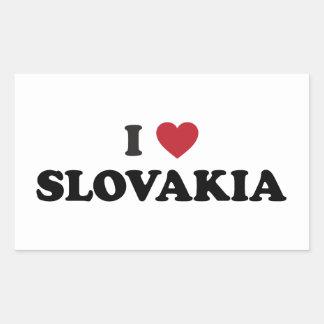 I Love Slovakia Rectangular Sticker