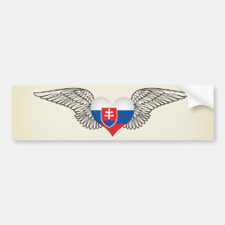 I Love Slovakia -wings Bumper Sticker