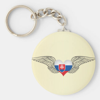 I Love Slovakia -wings Key Ring