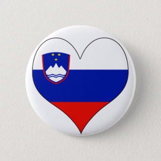 I Love Slovenia 6 Cm Round Badge