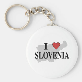 I Love Slovenia Key Ring