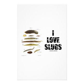 I Love Slugs (Naturalist / Nature) Customised Stationery