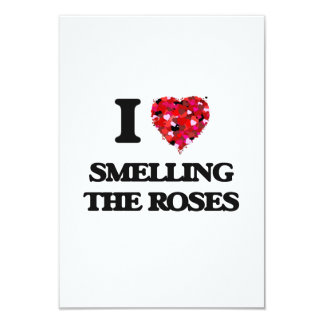 I love Smelling The Roses 9 Cm X 13 Cm Invitation Card