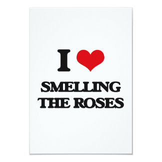 I love Smelling The Roses 3.5x5 Paper Invitation Card