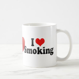 I Love Smoking Coffee Mug