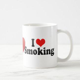 I Love Smoking Basic White Mug
