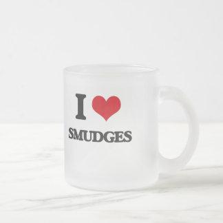 I love Smudges Frosted Glass Mug