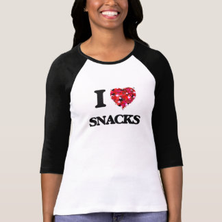 I Love Snacks food design Shirt