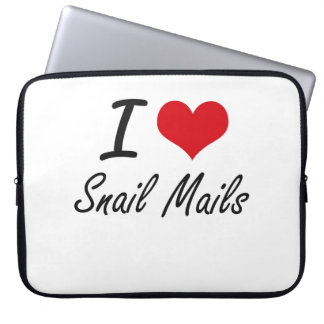 I love Snail Mails Laptop Computer Sleeves