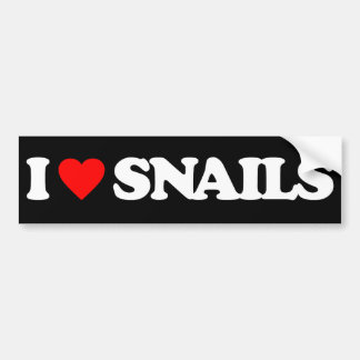 I LOVE SNAILS BUMPER STICKER