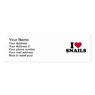 I love Snails Pack Of Skinny Business Cards