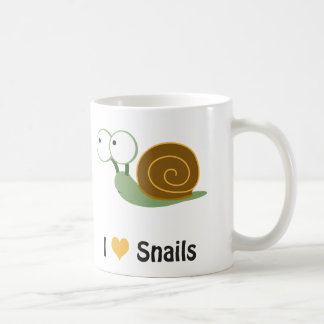 I love snails coffee mug