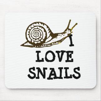 I Love Snails Mouse Mat