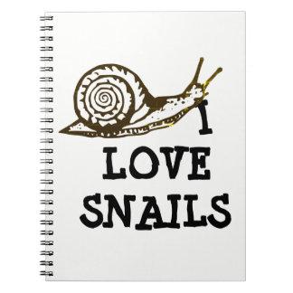 I Love Snails Notebook