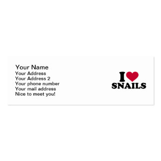I love Snails Pack Of Skinny Business Cards
