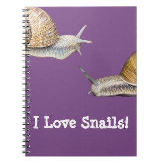I Love Snails Snail Design Notebook