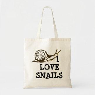 I Love Snails Tote Bag