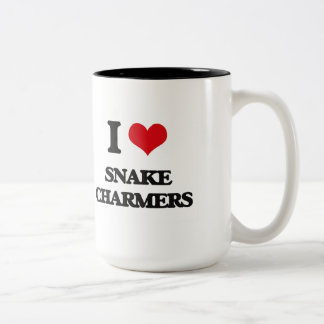 I love Snake Charmers Two-Tone Mug