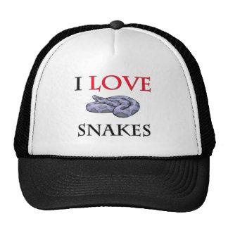 I Love Snakes Trucker Hats