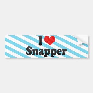 I Love Snapper Bumper Sticker