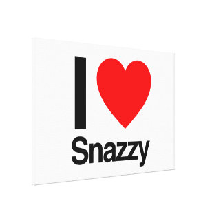 i love snazzy stretched canvas print
