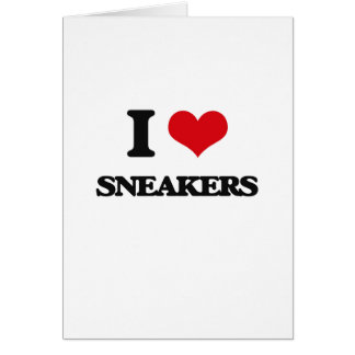 I love Sneakers Greeting Card