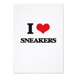 I love Sneakers 5x7 Paper Invitation Card
